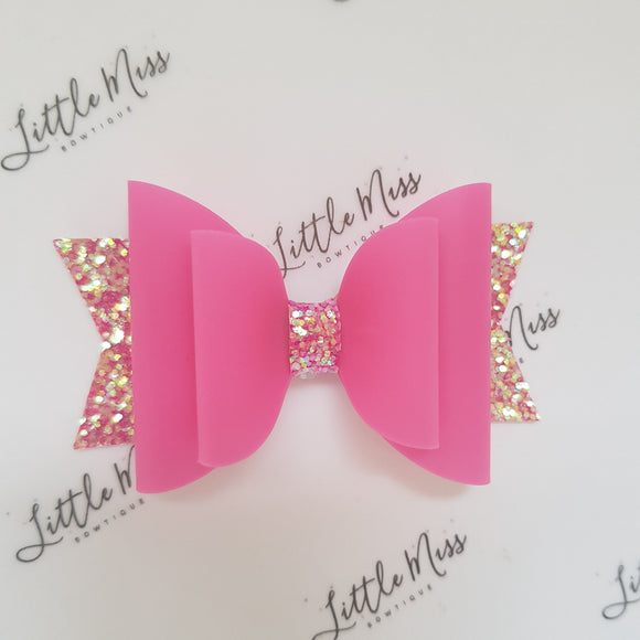 Hot Pink Jelly Bow