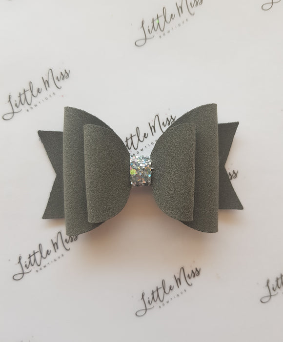 Storm Suede Double Bow