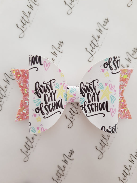 First Day of School Bow