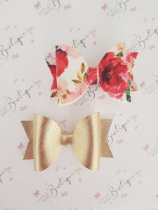 Floral and Gold Bows - Individual