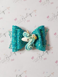 Sea Flower Unicorn Bow