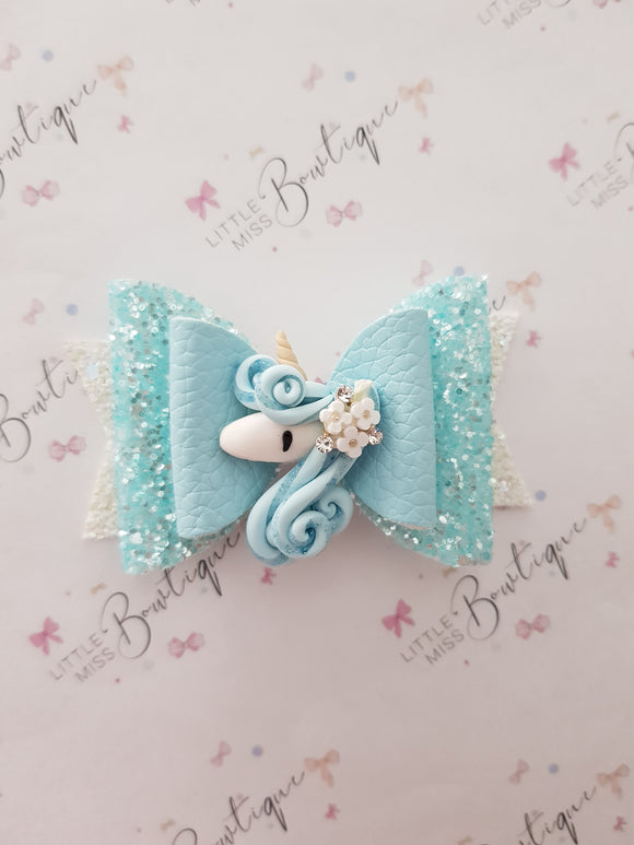 Flower Girl unicorn bow