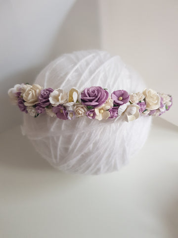 Purple flower crown - Style 2