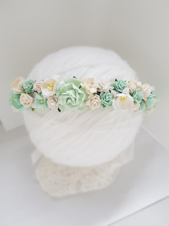 Mint flower crown