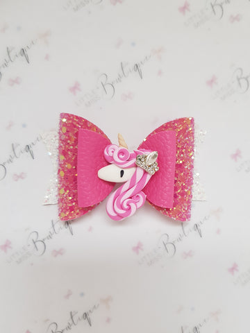 Pink Queen Unicorn Bow