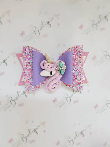 Confetti Queen Unicorn Bow