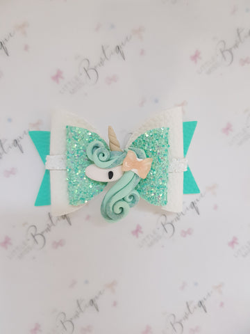 Minty Bowette unicorn bow