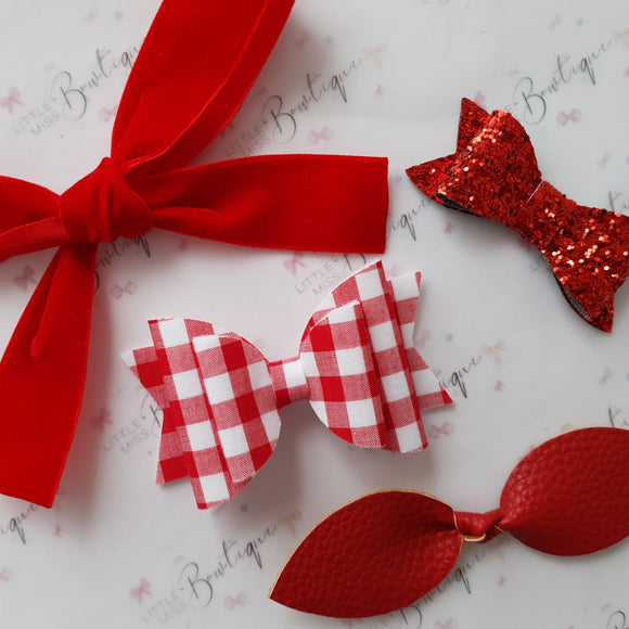 Red Gingham school Set