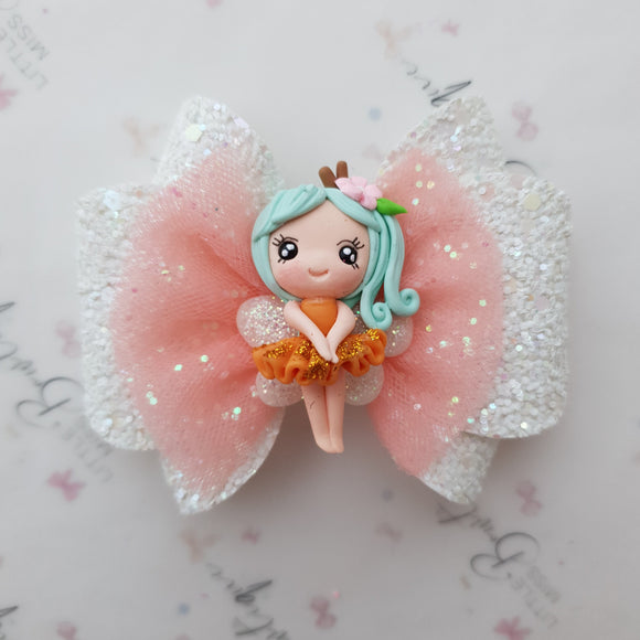 Orange Fairy Bow