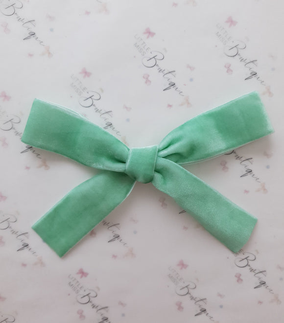 Mint Velvet Ribbon Bow