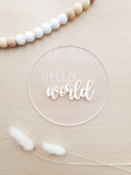 Hello World Plaque (4 Colours)