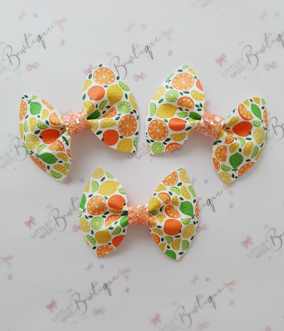 Citrus Blitz Pinch Bows