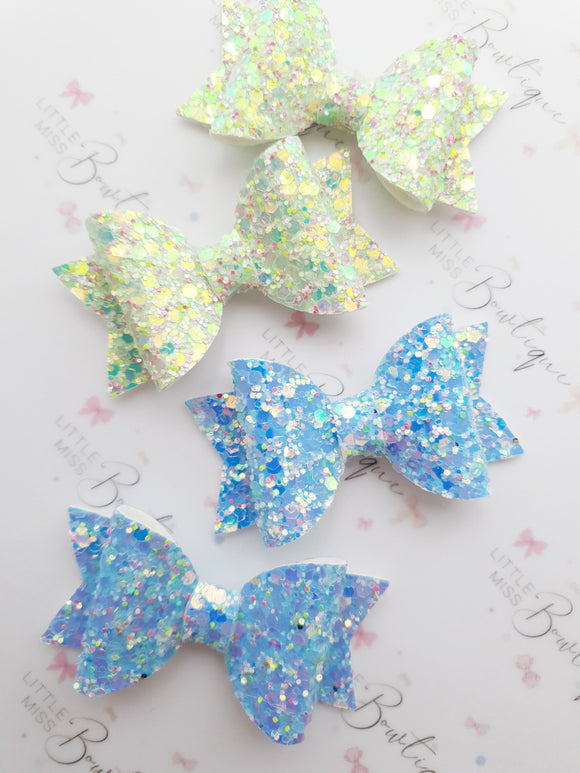 Ice Frosted Pigtail Bows