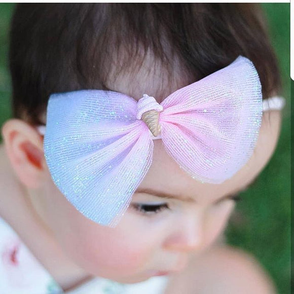 Ice Cream Tulle Bow
