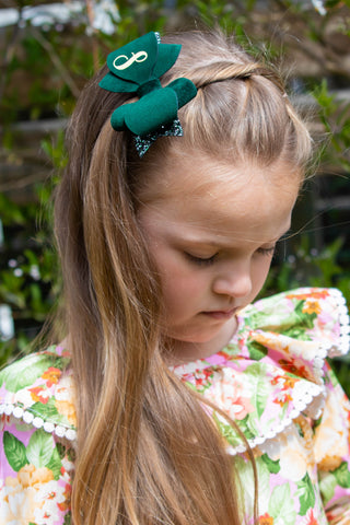 Emerald Green Personalised Bow