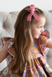 Tan and Dusty Pink Velvet ribbon bows