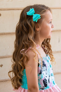 Mint Merino Wool Felt Bow