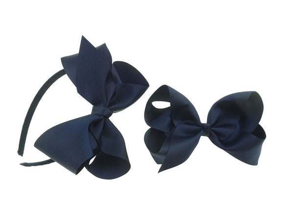PRE ORDER School Headband and Bow Sets (9 COLOURS)