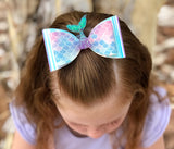Glitter Mermaid Tail Bow