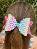 Rainbow Personalised Bow PRE ORDER