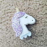Unicorn Hair Clip Set