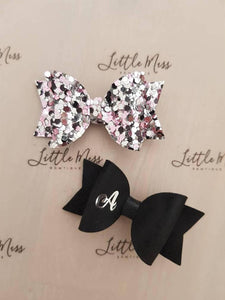 Personalised Pink/Black Set