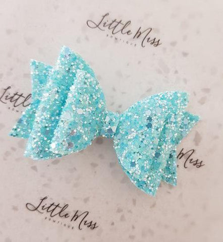 Blue Frosted Double Bow
