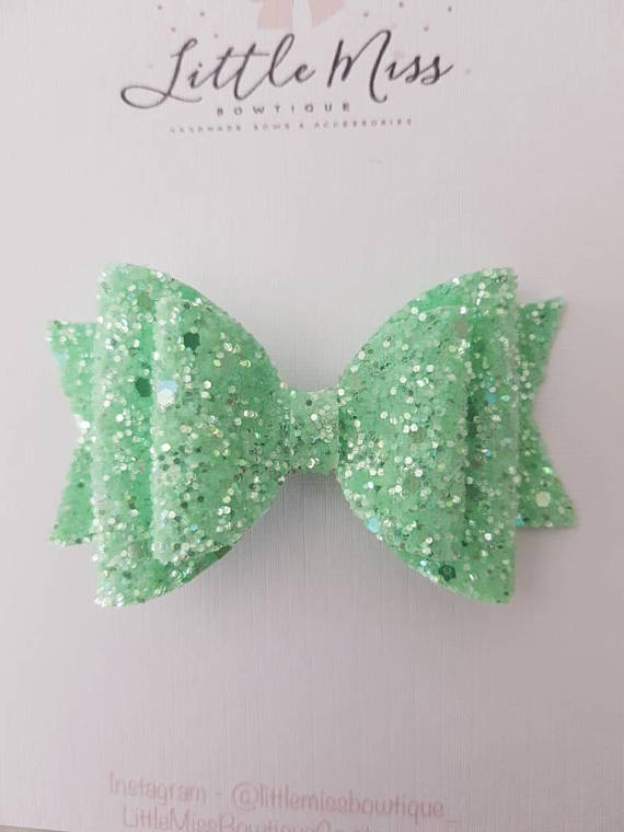 Lime Frosted Double Bow