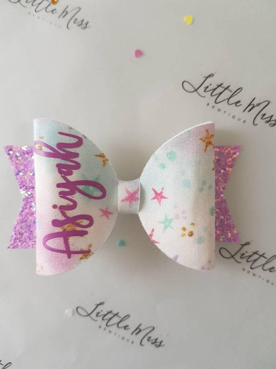 Personalised Little Star Bow