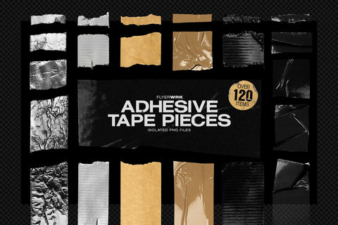 Isolated Adhesive Tape pieces