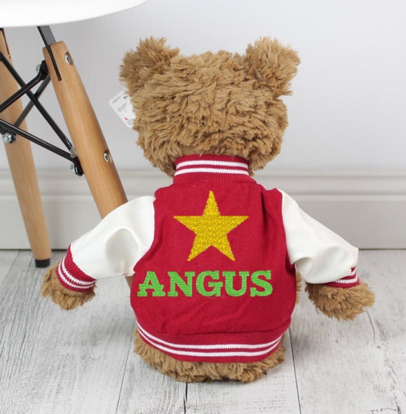 Personalised Teddy - Pinchy w/VARSITY JACKET