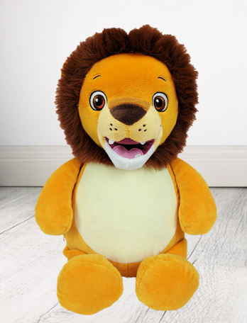 Personalised Teddy Bear - Sig The Lion Cubbie - Teddie & Lane