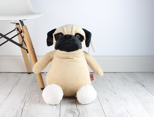 Personalised Teddy Bear - Pug Dog Cubbie