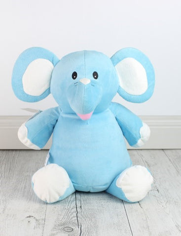 Personalised Teddy Bear -Blue Elephant Cubbie