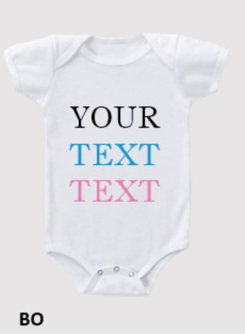 Baby Onesie YOUR TEXT - Teddie & Lane