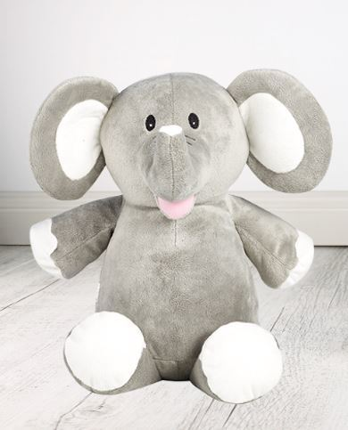 Personalised Teddy Bear -Grey Elephant Cubbie