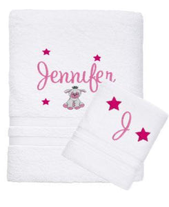 Personalised Towel -  Bath & Face Set