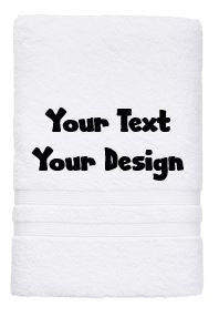Personalised Towel - Bath Towel White Your Desaign