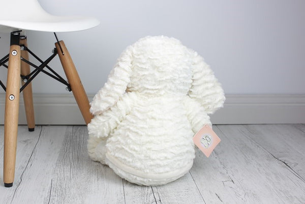 Personalised Teddy Bear - EASTER White Bunny Cubbie