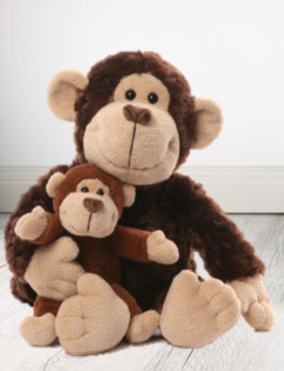 Personalised Teddy -  Mummy & Me Monkey 35cm