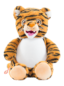 Personalised Teddy Bear - Signiture Tiger Cubbie - 40cm - Teddie & Lane