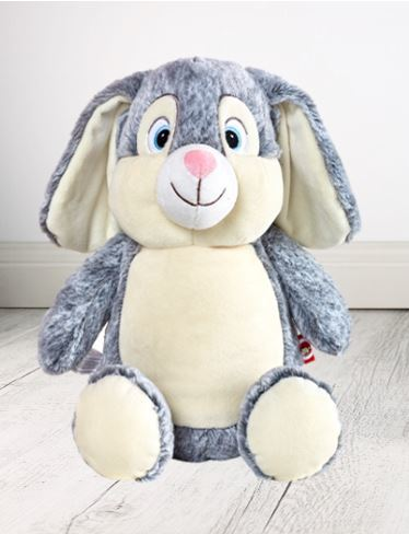 Personalised Teddy Bear -EASTER Cross Blue Munschkin Cubbie - 40cm