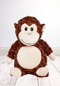 Personalised Teddy Bear - Huggles the Monkey Cubbie - 40cm