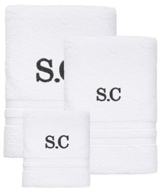Personalised Initial Towel Set