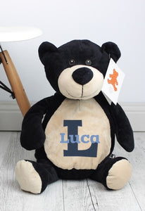 Personalised Teddy Bear - Billy Black Embroider Bear - Teddie & Lane