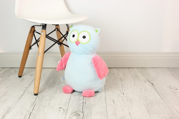 Personalised Teddy Bear - Hooty Lou The OWL Cubbie - 30cm