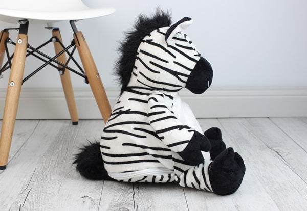 Personalised Teddy Bear - Zachary Zebra Buddy