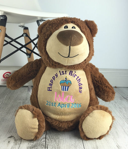 Personalised Teddy Bear - Cubbyford Bear Cubbie - 40cm