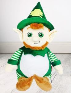 Personalised Teddy-  Leprechaun Cubby