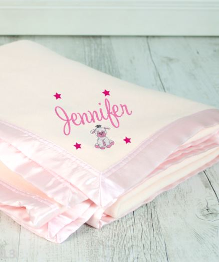 Personalised Blanket Pink - Teddie & Lane